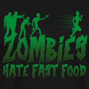 Zombier Zombie Fastfood lusitg - Herre premium T-shirt