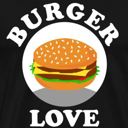 Burger Love BBQ Grillen Geschenk Geschenkidee - Männer Premium T-Shirt