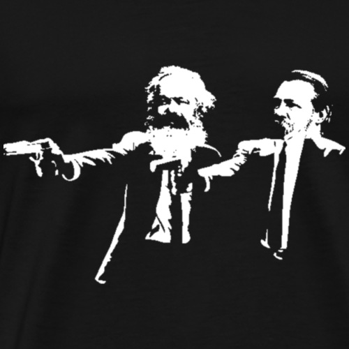Marx & Engels -Göttliche Intervention Pulp Fiction - Männer Premium T-Shirt