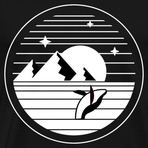 Wal beim Springen - Männer Premium T-Shirt
