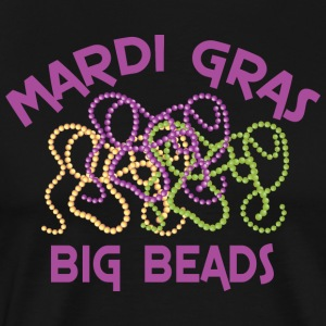 Mardi Gras Big Beads - Men's Premium T-Shirt