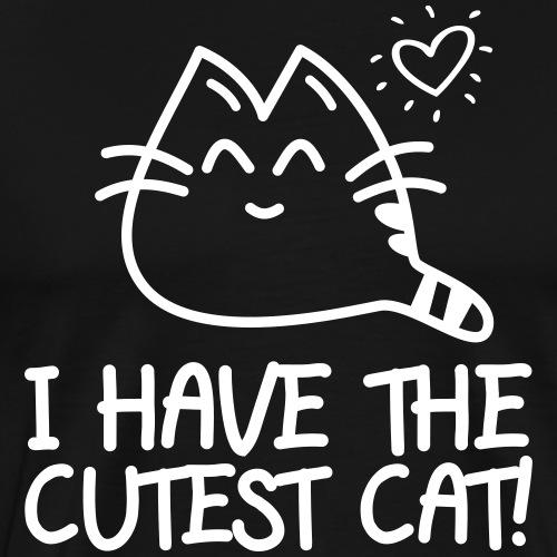 DIE SÜßESTE KATZE - Katzen Sprüche Geschenk Shirts - Männer Premium T-Shirt