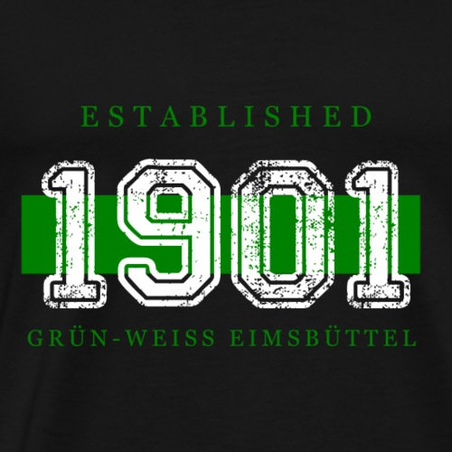 Established 1901 Weiss - Männer Premium T-Shirt