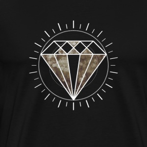 diamond Diamant Icon Star edel Gamer Level Sonne - Männer Premium T-Shirt