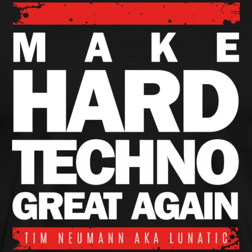 Make Hard Techno Great Again_White - Männer Premium T-Shirt