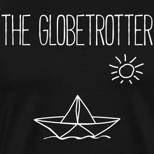 THE GLOBETROTTER- Papierboote Boot Geschenk Shirts - Männer Premium T-Shirt