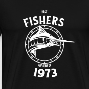 Present for fishers born in 1973 - Men's Premium T-Shirt