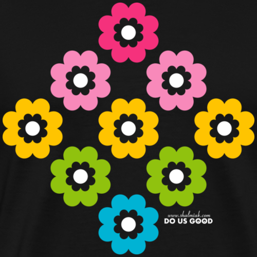 RAINBOW BLOOM - Miesten premium t-paita