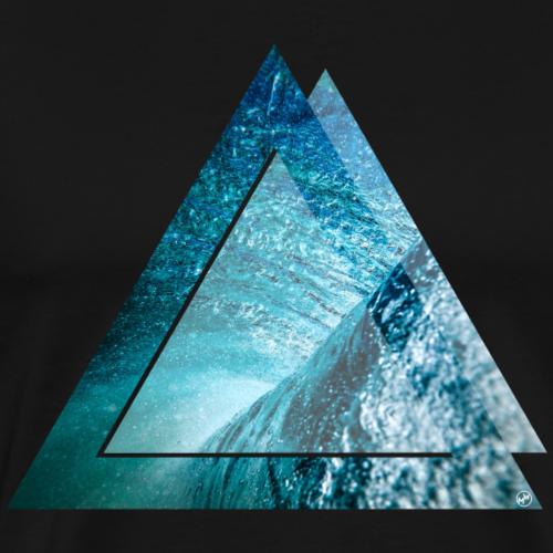 Dreieck Wave - Männer Premium T-Shirt