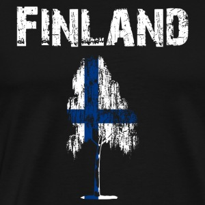 Nation design Finland Birch - Herre premium T-shirt