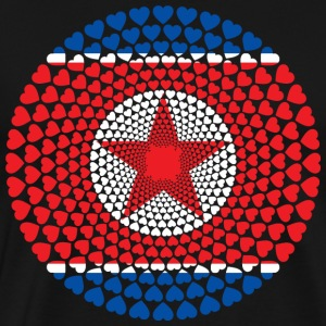North Korea North Korea 민주주의 인민 공화국 공화국 Heart Mandala - Men's Premium T-Shirt