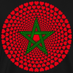 Morocco Morocco المغرب HEART Mandala - Men's Premium T-Shirt