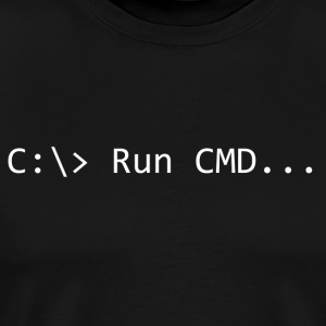 Run CMD Prompt - Maglietta Premium da uomo