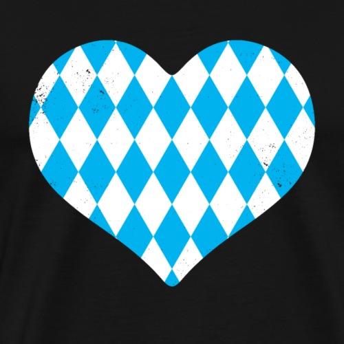 Vintage Oktoberfest Wiesn T-Shirt mit Bayrischem - Männer Premium T-Shirt