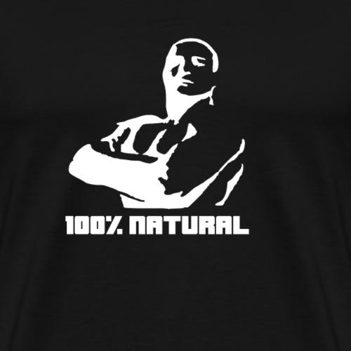 100% NATURAL Bodybuilder - Männer Premium T-Shirt