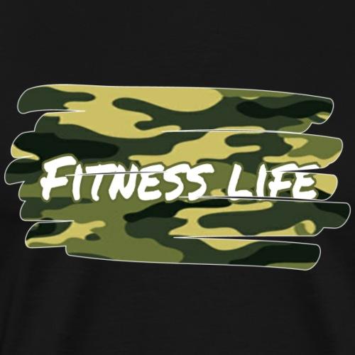 Fitness Life Camo - Männer Premium T-Shirt