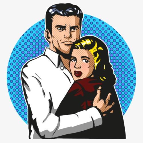 Pop Art Horror Drama - Männer Premium T-Shirt