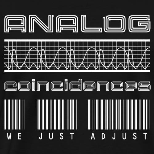 Analog Coincidences - Full Logo - Mannen Premium T-shirt