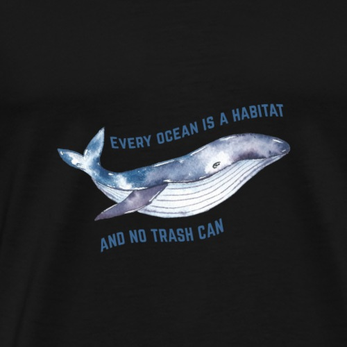 Environmental protection of whales and seas - Men's Premium T-Shirt