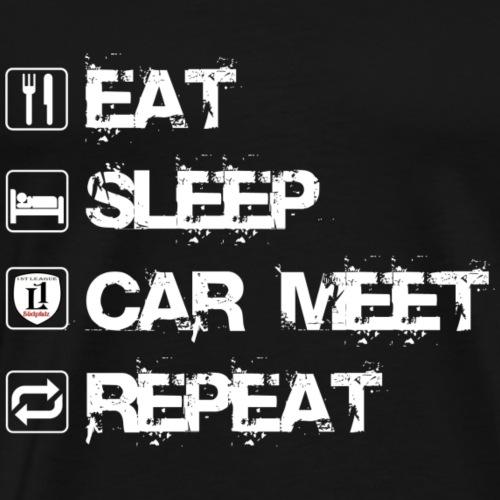 Eat Slee CarMeet Repeat - Männer Premium T-Shirt