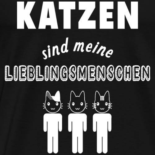 Lieblingsmensch Katze - Männer Premium T-Shirt