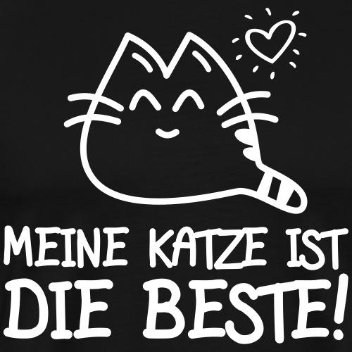 DIE BESTE KATZE - Katzen Sprüche Geschenk T-Shirts - Männer Premium T-Shirt