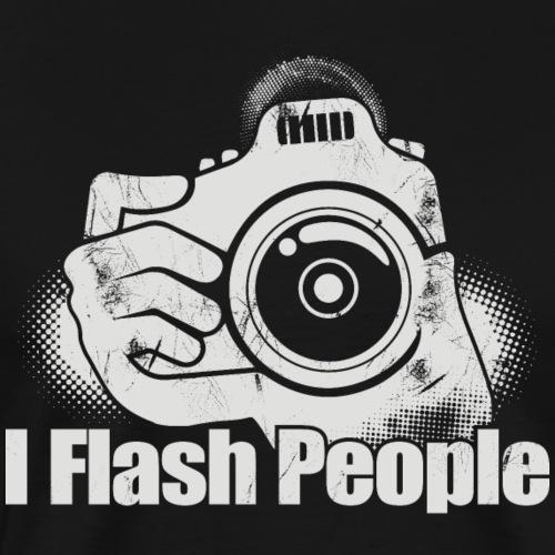 I Flash People Camera Finger Shutter Camera Gift - Männer Premium T-Shirt