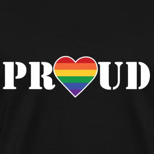 Herzproud 2 - Männer Premium T-Shirt
