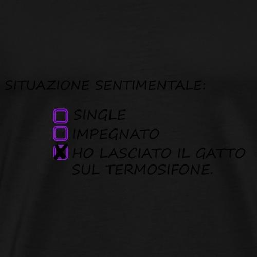 Gatto sul termosifone - Maglietta Premium da uomo