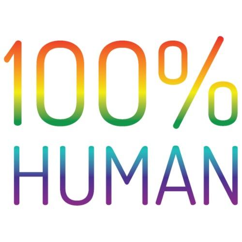 100% Human in regenboog kleuren - Mannen Premium T-shirt