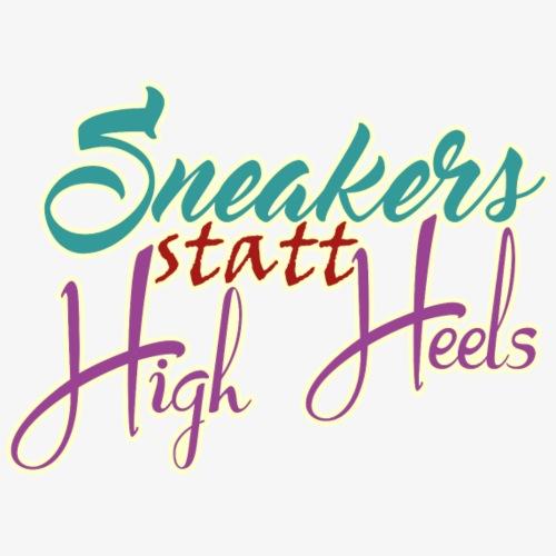 Sneaker statt HighHeels - Männer Premium T-Shirt