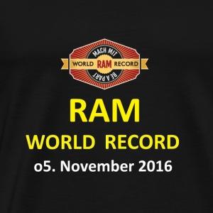 RWR gelb mit Datum (weiß) - Männer Premium T-Shirt