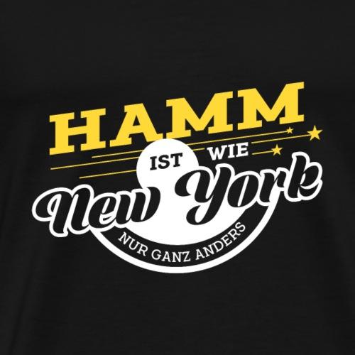 Hamm ist wie New York nur ganz anders - Männer Premium T-Shirt