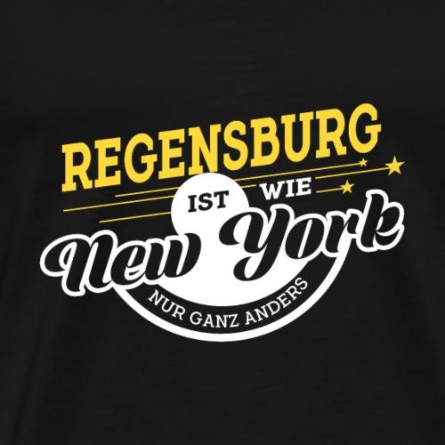 Regensburg ist wie New York nur ganz anders - Männer Premium T-Shirt