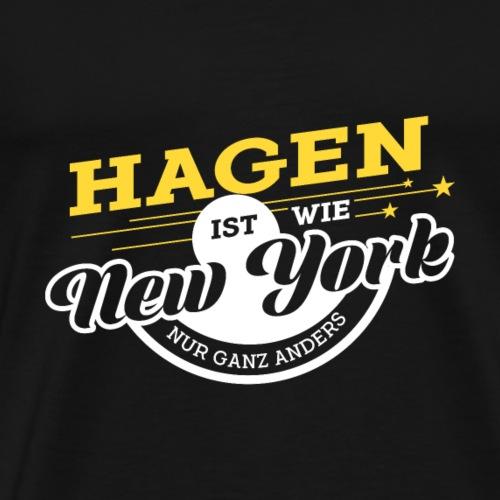 Hagen ist wie New York nur ganz anders - Männer Premium T-Shirt