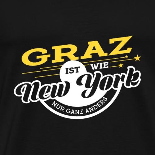 Graz ist wie New York nur ganz anders - Männer Premium T-Shirt