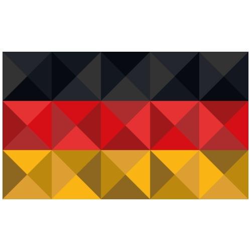 Deutschland Polygonflagge - Männer Premium T-Shirt
