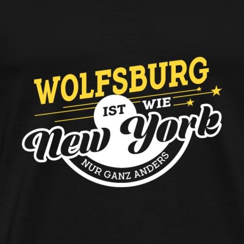 Wolfsburg ist wie New York nur ganz anders - Männer Premium T-Shirt