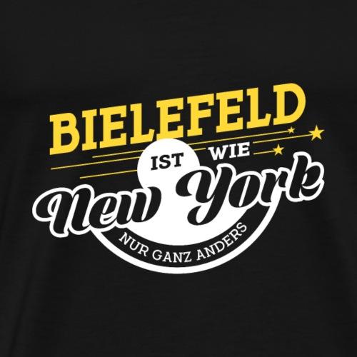 Bielefeld ist wie New York nur ganz anders - Männer Premium T-Shirt