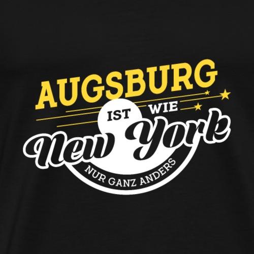 Augsburg ist wie New York nur ganz anders - Männer Premium T-Shirt