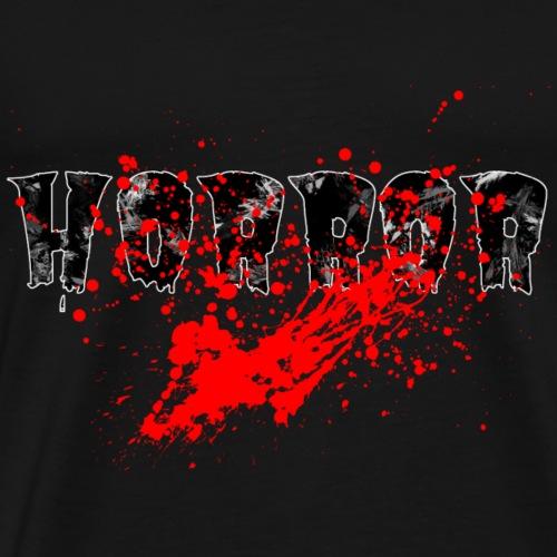 Horror Schriftzug blutig - Männer Premium T-Shirt
