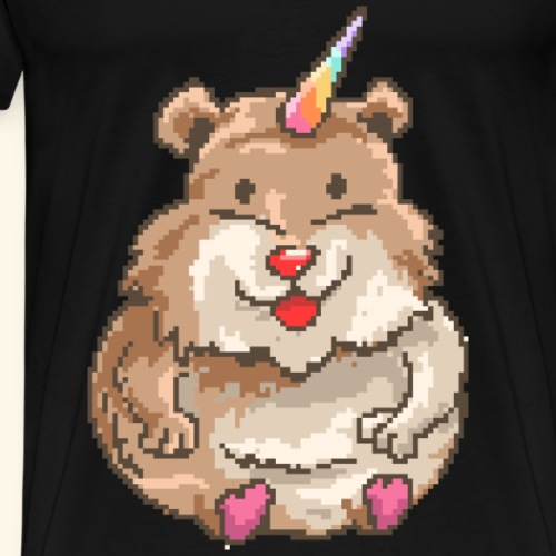 Hamster Unicorn Einhorn-Shirt Tees - Männer Premium T-Shirt