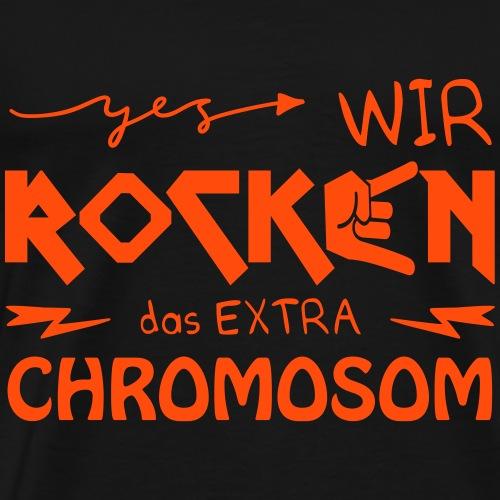 WIR ROCKEN DAS EXTRA CHROMOSOM | Das bunte Zebra - Männer Premium T-Shirt