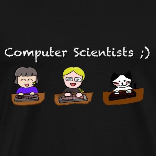 Computer Scientists - Dark Background - Männer Premium T-Shirt