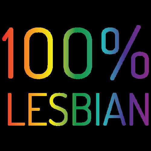 100% Lesbian in regenboog kleuren - Mannen Premium T-shirt