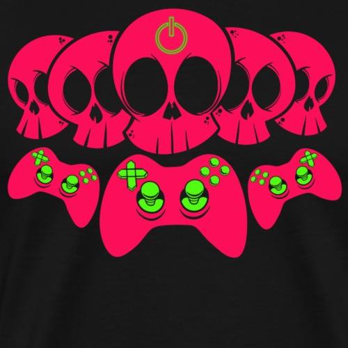 Controller Totenköpfe - Männer Premium T-Shirt