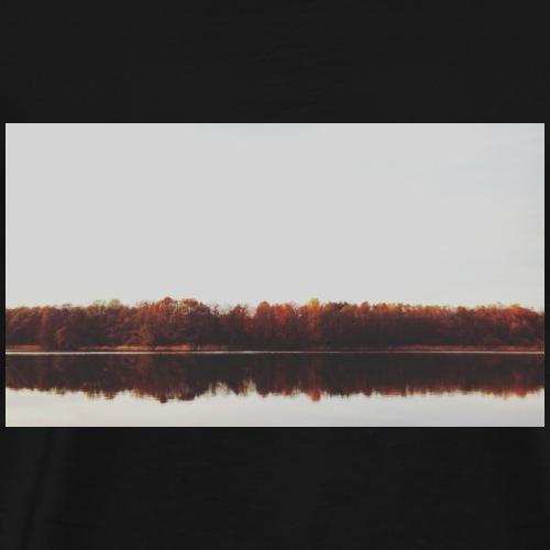 Jesienne jezioro - Koszulka męska Premium