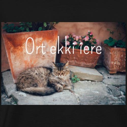 Ort ekki iere - Mannen Premium T-shirt