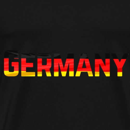 Germany Text With Flag - Miesten premium t-paita