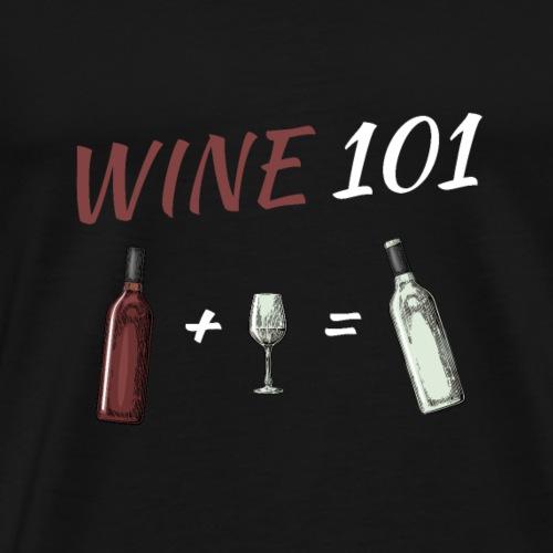 WINE 101 white - Männer Premium T-Shirt